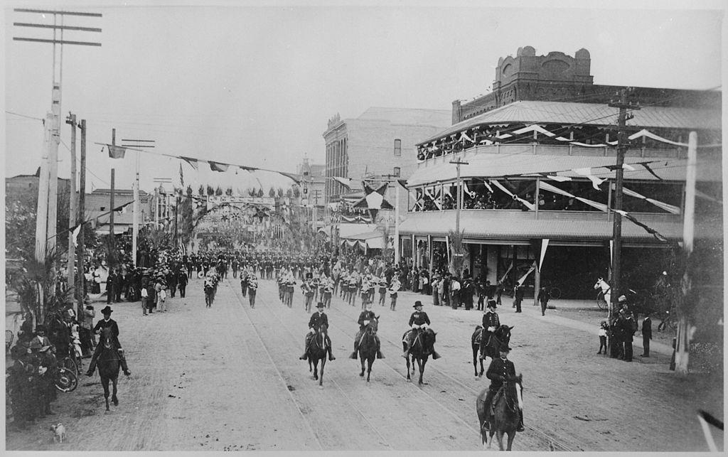 GAR parade, Phoenix, AZ, 1888