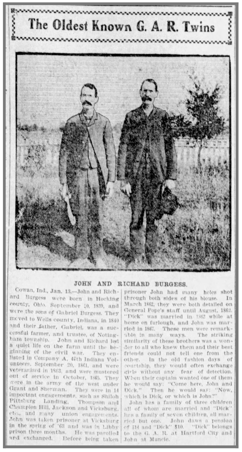 John and Richard Burgess, 1902
